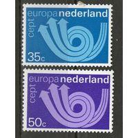 Нидерланды. Михель- 1011-1012. Чистая.