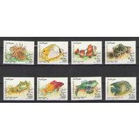 Сомали Рыбы 1994 год чистая полная серия из 8-ми марок