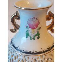 Старинная Фарфоровая ваза . Ручная работа,роспись.Поздний Цин .Китай .
