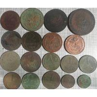 Монеты копаные 5,3,2,1,пол копейки