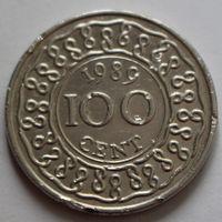 Суринам, 100 центов 1989 г