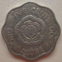Сейшельские острова 5 центов 1972 г. ФАО (gl)
