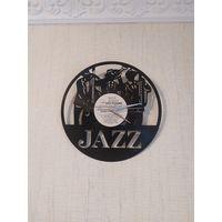 """Часы на виниловой пластинке """"Jazz"""" 30см"""