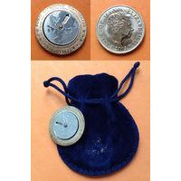 Мэн 60 пенсов 2002 г Конвертер Европейских валют НЕ ЧАСТАЯ Остров Великобритания