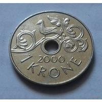 1 крона, Норвегия 2000 г.