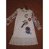 Платье-туника для девочки 122-128р новая.