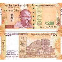 Индия  200 рупий  2018 год   (новый дизайн)  UNC