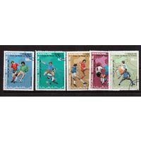 Мавритания-1990,(Мих.962-966) гаш., Спорт,футбол