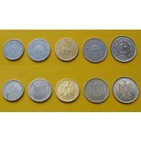 Египет набор 1967г. 5, 10, 10 милимс, 5, 10 пиастр