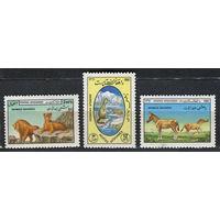 Фауна. Звери. Афганистан. 1982. Полная серия 3 марки. Чистые