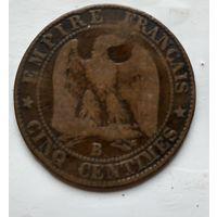 Франция 5 сантимов, 1856 B - Руан 2-6-11