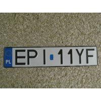Автомобильный номер Польша EPI11YF