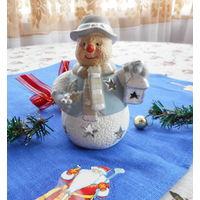 Подсвечник Снеговик 13 см