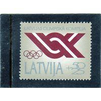 Латвия. Mi:LV 324. Латвийский олимпийский комитет. 1992.