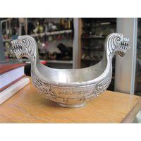 Ваза, чаша-ладья Royal Pewter(Королевское олово), Норвегия, 8*14*8 см.