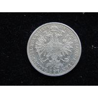 Австро-Венгрия 1 флорин 1858 г