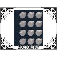 Лист Синий, для монет в капсулах D= 46,25мм, Коллекционер КоллекционерЪ в альбом для капсул