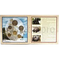 Сейшельские острова 6 монет 2004-2010 года. Флора, фауна BU в буклете