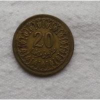 20 миллимов 1983 г. Тунис