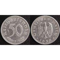 YS: Германия, Третий Рейх, 50 рейхспфеннигов 1935E, КМ# 87 (2)