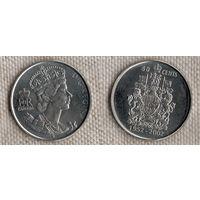 Канада 50 центов 2002/ 50 лет правлению Королевы Елизаветы II 1952-2002 (Zo)
