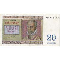 Бельгия, 20 франков, 1956 г.