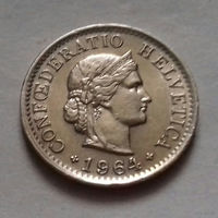 5 раппен, Швейцария 1964 г.