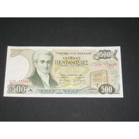 Греция 500 Драхм 1983 AU