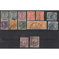 Ирак Минарет Вавилонский лев Король Гази 1 Король Фейсал 2 стандартные выпуски 1934-1950 год гашеные 14 марок