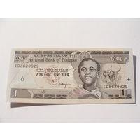 Эфиопия. 1 бырр 2003 год UNC