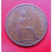 38-10 Великобритания, 1 пенни 1962 г.