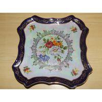 Блюдо тарелка поднос Богемия 19 век