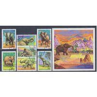 [1251] Танзания 1994. Фауна.Слоны. Гашеная серия+блок.