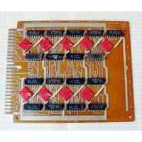Плата 746-1418-01 с микросхемами серии К155