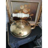 Чайник Английский Большой Старинный Кофейник Латунь С Рубля
