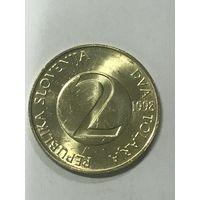 2 толара, 1998 г., Словения