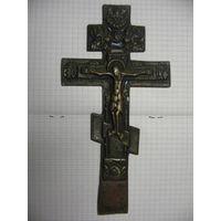 Крест распятье с текстом на обратной стороне