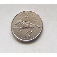25 центов США 1999 г. штат Дэлавер P