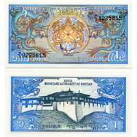 Бутан 1 нгултрум  1986 год   UNC