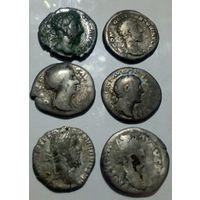 Монеты римской империи. 6 шт.