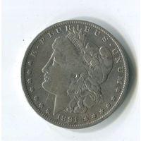 Морган доллар 1891о
