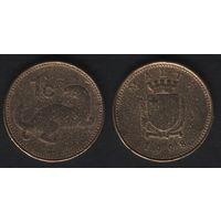 Мальта km93 1 цент 1998 год (h02)