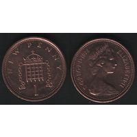 Великобритания _km915 1 пенни 1974 год (h01)