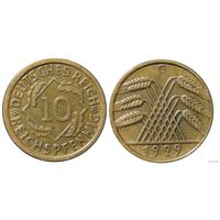 YS: Германия, 10 рейхспфеннигов 1929G, KM# 40