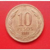 58-29 Чили, 10 песо 1988 г.