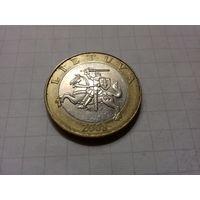 Литва 2 лита 2008 год.