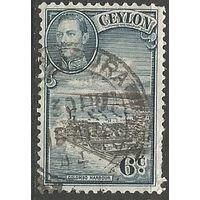 Цейлон. Король Георг VI. Г.Коломбо. 1943г. Mi#233.
