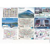 Транспортные карточки  Япония 9шт (билеты) лот 11