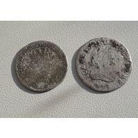 Два шестака 1683 и 1756