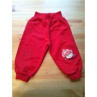 Красные штаны на рост 74 см, 100% хлопок